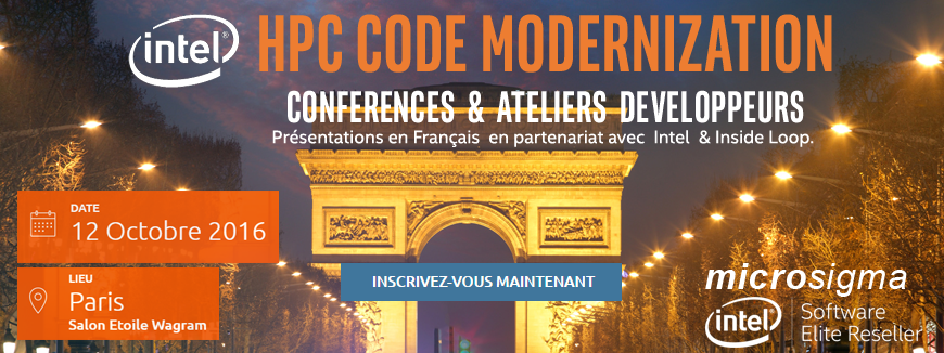 Intel Code Modernization Conference Paris