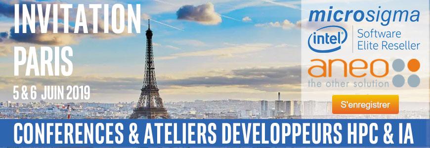 Conférence Développeurs Intel® Software pour le calcul HPC et l'IA- Paris 5 & 6 Juin 2019