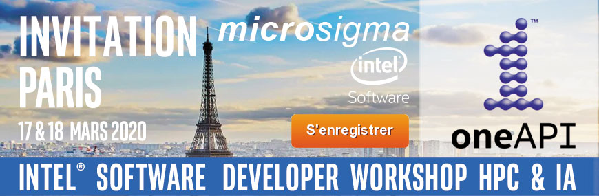 Intel Software Developer Workshop Paris Mars 2020