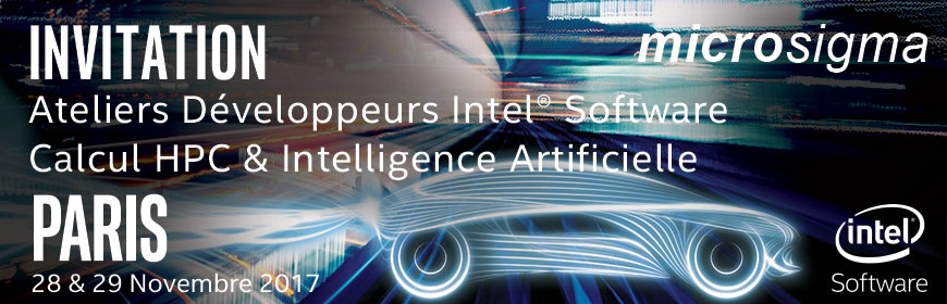 invitation Ateliers Intel Software