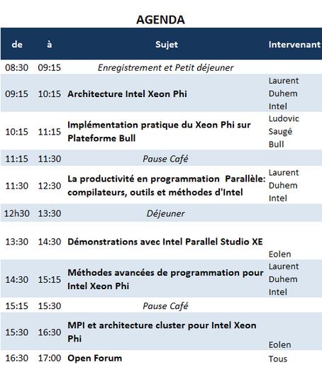 Agenda 19 mars 2013